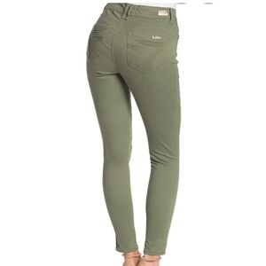 """SEVEN 7 Green 10"""" Rise Skinny Jeans"""